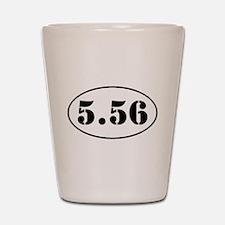 5.56 Oval Design Shot Glass