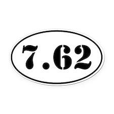 7.62 Oval Design Oval Car Magnet