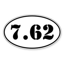 7.62 Oval Design Decal