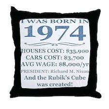 Birthday Facts-1974 Throw Pillow