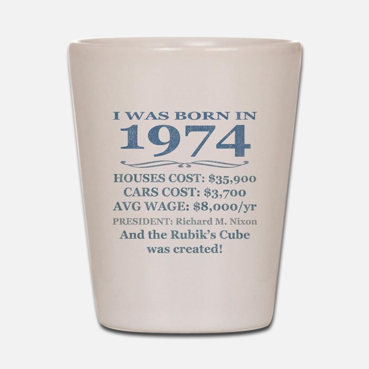Birthday Facts-1974 Shot Glass