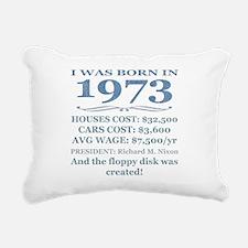 Birthday Facts-1973 Rectangular Canvas Pillow