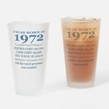 Birthday Facts-1972 Drinking Glass