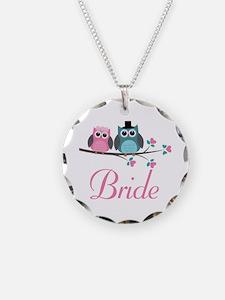 Bride Wedding Owls Necklace
