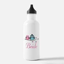 Bride Wedding Owls Water Bottle
