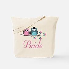Bride Wedding Owls Tote Bag