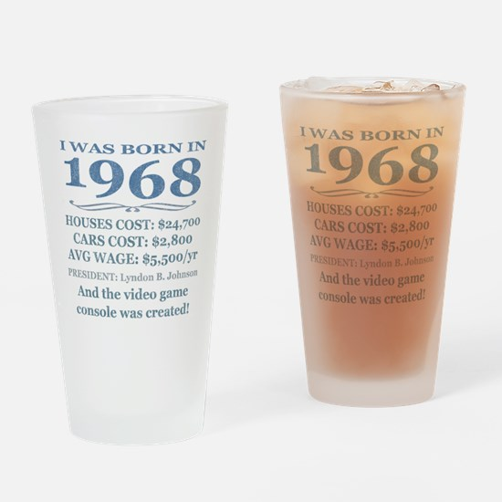Birthday Facts-1968 Drinking Glass