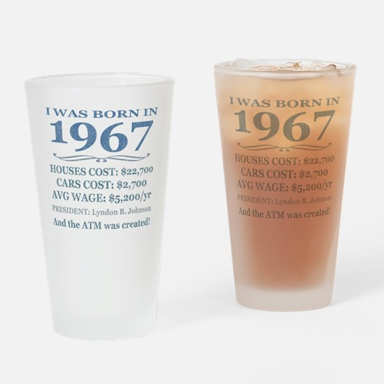 Birthday Facts-1967 Drinking Glass