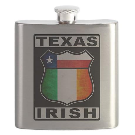 Texas Irish American Flask