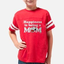 Happiness is a Mom Youth Football Shirt