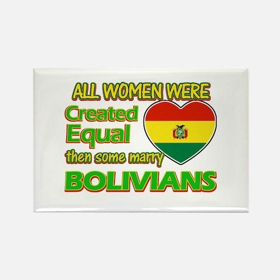 Bolivians Husband designs Rectangle Magnet