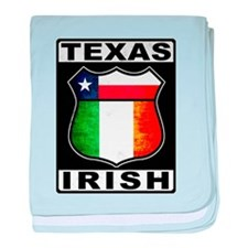 Texas Irish American baby blanket