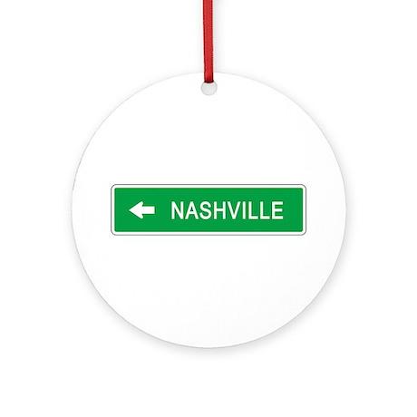 Roadmarker Nashville (TN) Ornament (Round)