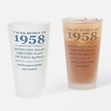 Birthday Facts-1958 Drinking Glass