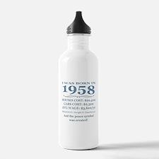 Birthday Facts-1958 Water Bottle