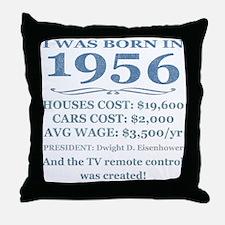 Birthday Facts-1956 Throw Pillow