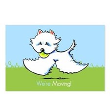 Were Moving Westie New Address Postcards (Package