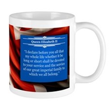 Queen Elizabeth Historical Small Mugs