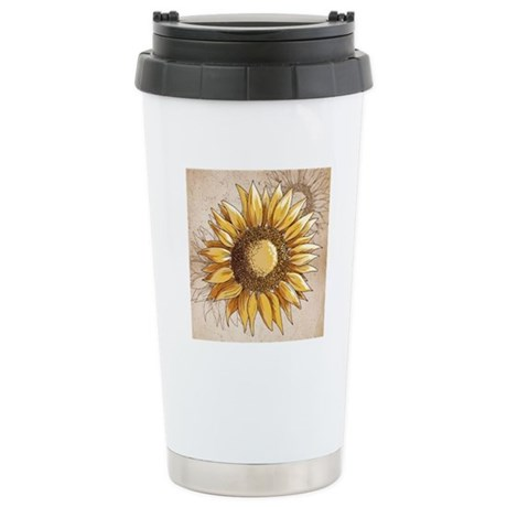 Retro Country Sunflower Travel Mug