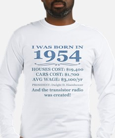Birthday Facts-1954 Long Sleeve T-Shirt