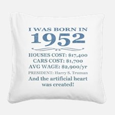 Birthday Facts-1952 Square Canvas Pillow