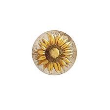Retro Country Sunflower Mini Button