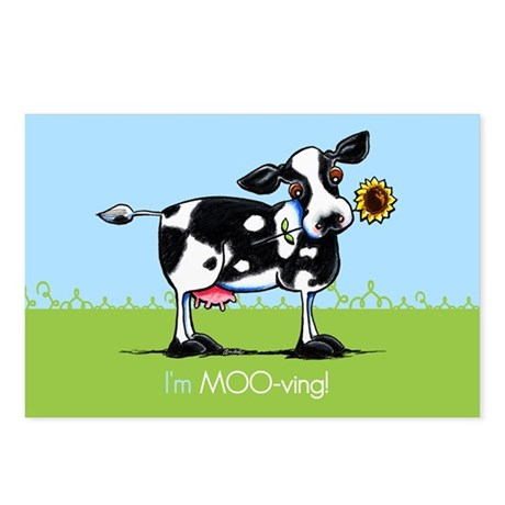 Im Moving Cow New Address Postcards (Package of 8)