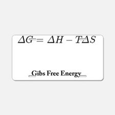 Gibs Free Energy Aluminum License Plate
