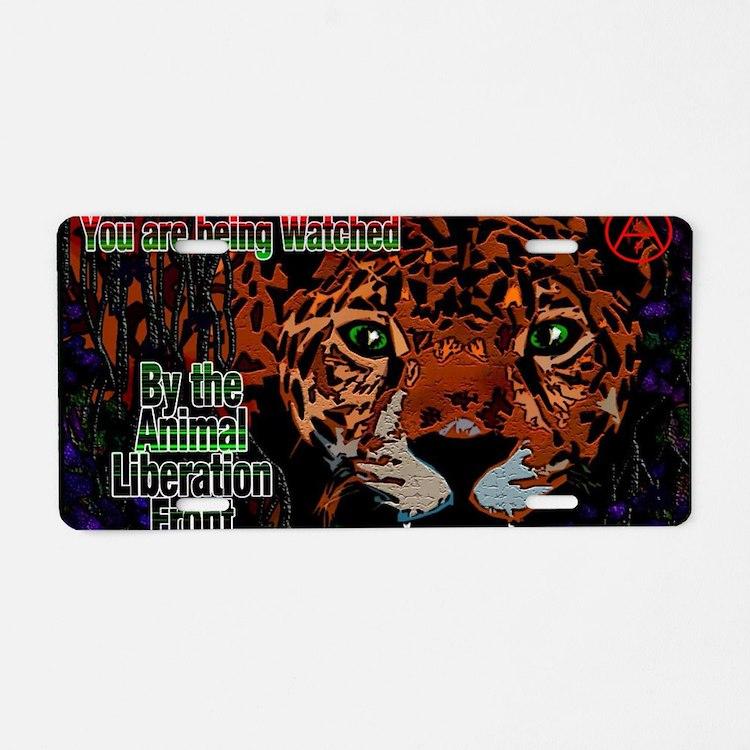 Leopard A.L.F. Aluminum License Plate