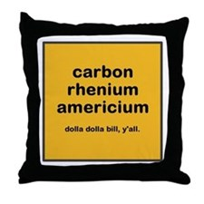 cream chem throw pillow