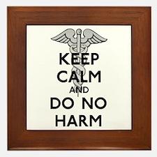 Keep Calm Do No Harm Framed Tile