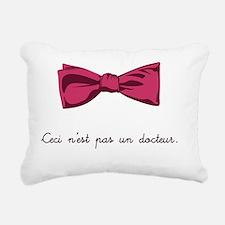 Ceci n'est pas un docteu Rectangular Canvas Pillow