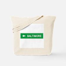 Roadmarker Baltimore (MD) Tote Bag