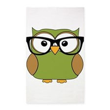 Funky Hipster Owl 3'x5' Area Rug