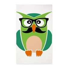 Hipster Owl 3'x5' Area Rug