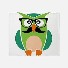 Hipster Owl Throw Blanket