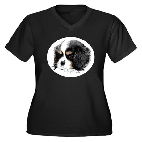 King Charles Cavalier Pup Plus Size T-Shirt