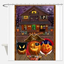 PUMPKIN MASQUERADE Shower Curtain