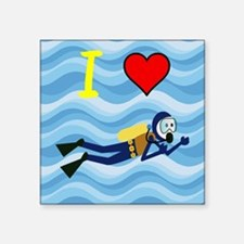 "Scuba Diving Square Sticker 3"" x 3"""