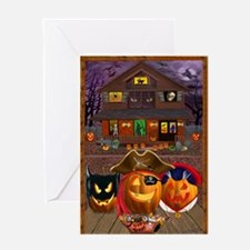 PUMPKIN MASQUERADE Greeting Cards