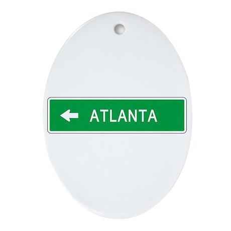Roadmarker Atlanta (GA) Oval Ornament