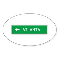 Roadmarker Atlanta (GA) Oval Decal