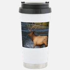 elk splashing in the water Travel Mug