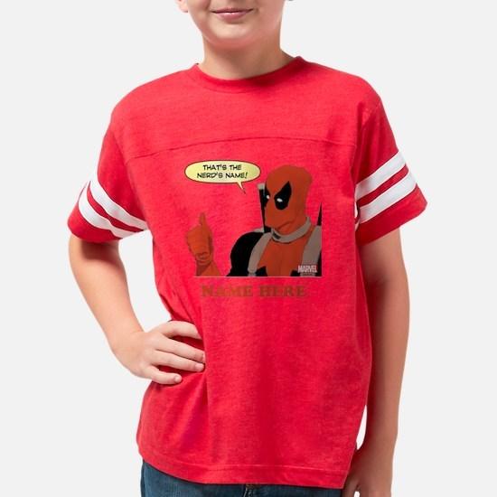 Deadpool Nerds Name Personali Youth Football Shirt