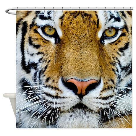 Tigers, Big Cat Football Shower Curtain