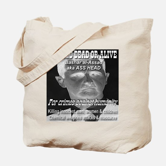 Assad Wanted Poster Tote Bag