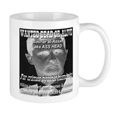 Assad Wanted Poster Mug