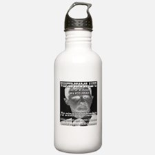 Assad Wanted Poster Water Bottle