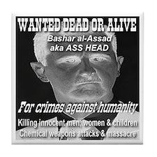 Assad Wanted Poster Tile Coaster