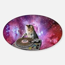 DJ Space Cat Decal